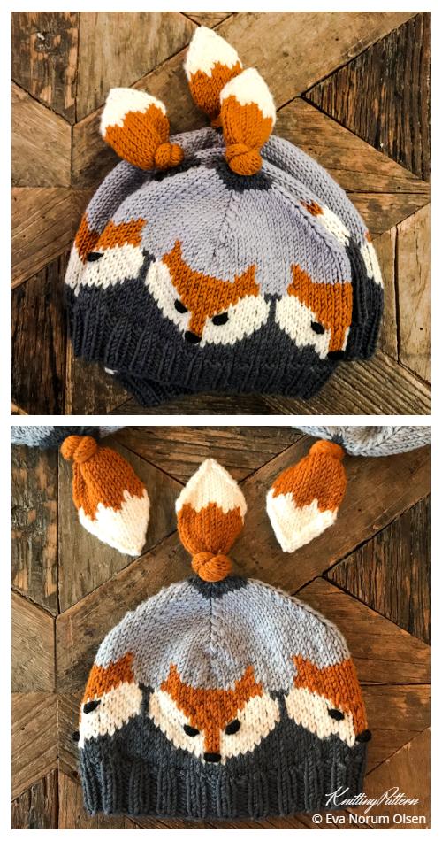 Örgü Tilki Şapka Örgü Modelleri