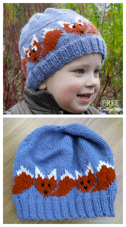 Knit Fox Hat Free Örgü Modelleri