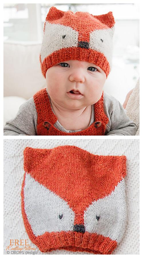 Knit Baby Fox Hat Free Örgü Modelleri