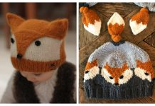 Knit Fox Hat Free Knitting Patterns & Paid