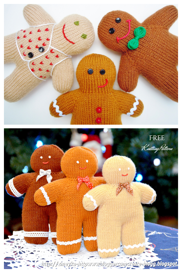 Amigurumi Gingerbread Boy Free Knitting Patterns