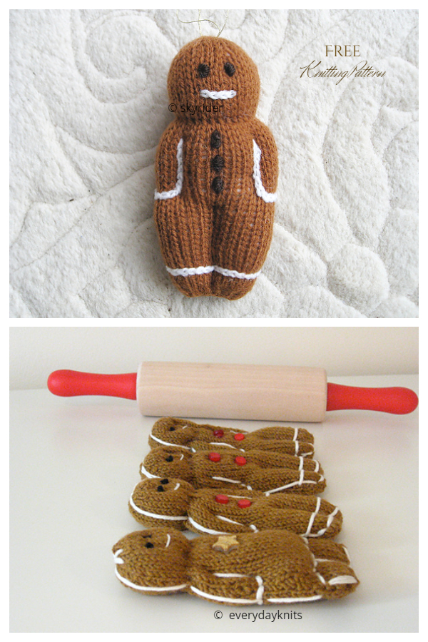 Amigurumi Gingerbread People Free Knitting Patterns