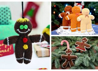 Amigurumi Gingerbread Man Free Knitting Patterns