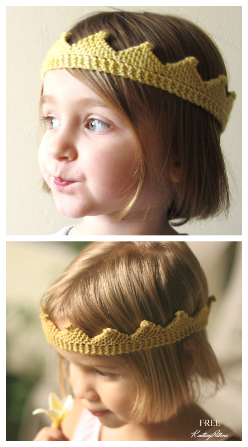 Knit Circlet Crown Free Knitting Patterns
