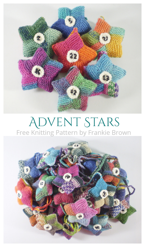 Knit Christmas Advent Stars Free Knitting Patterns