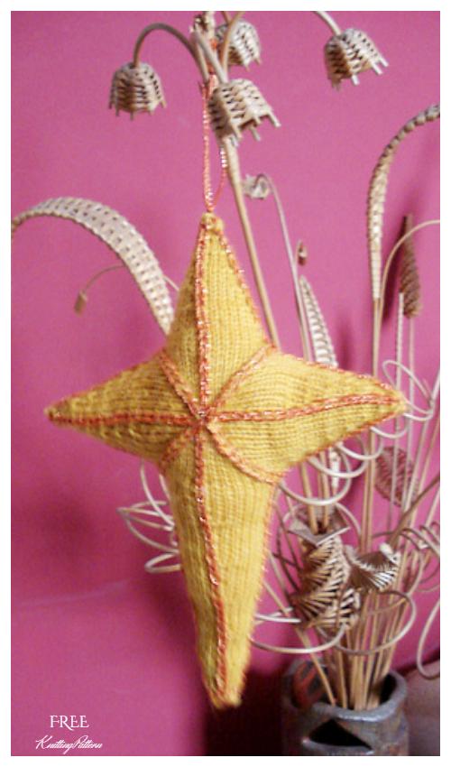 Knit Star of Bethlehem Free Knitting Patterns