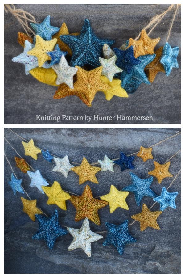 Knit Christmas Star Ornament Free Knitting Patterns ...