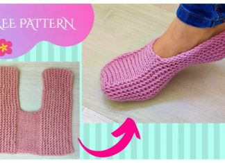 Knit One-Piece Slippers Free Knitting Pattern + Video