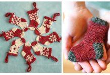 Mini Christmas Stocking Ornaments Free Knitting Patterns