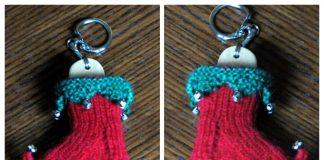 Mini Elf Sock Ornament Free Knitting Pattern