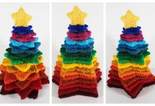 Knit Stacking Stars Christmas Tree Free Knitting Pattern