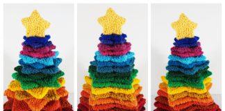 Knit Stacking Stars Christmas Tree Free Knitting Pattern