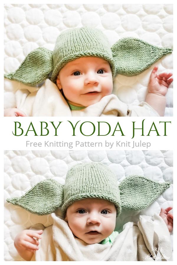 Baby Yoda Hat Free Knitting Patterns