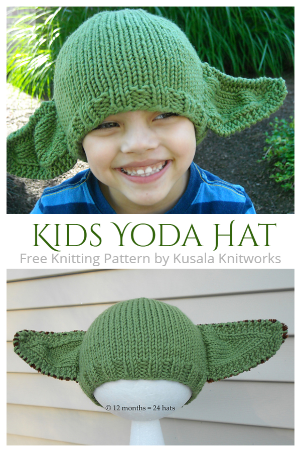 Kids Yoda Hat Free Knitting Patterns