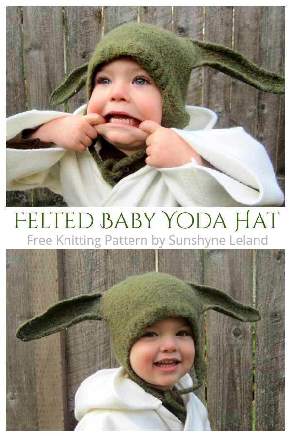 Felted Baby Yoda Hat Free Knitting Patterns