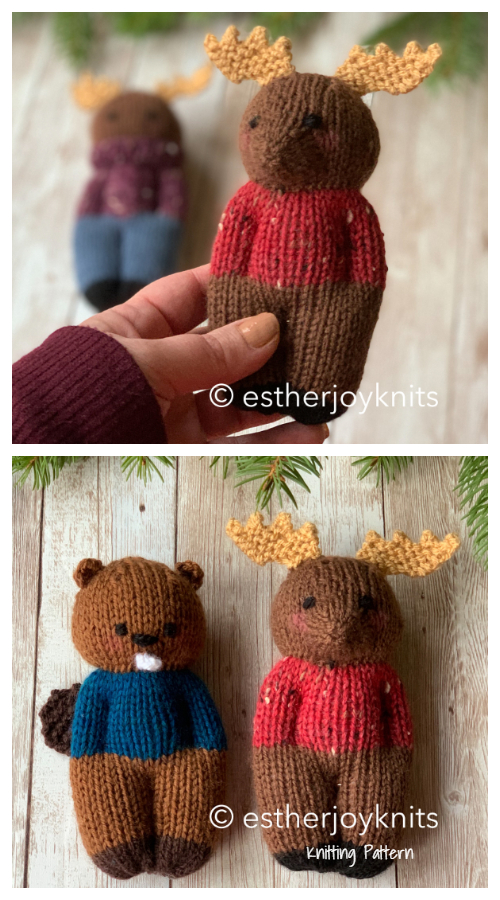 Amigurumi Canadian Forest Friends Moose Knitting Patterns
