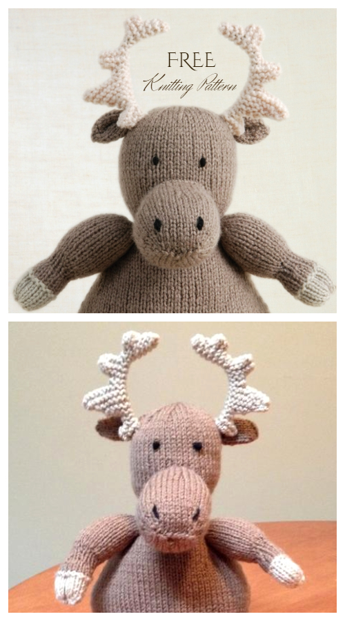 Amigurumi Cuddly Moose Free Knitting Pattern