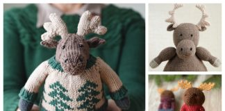 Amigurumi Moose Free Knitting Patterns & Paid
