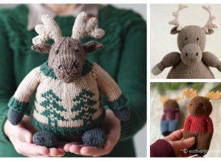 Amigurumi Moose Free Knitting Patterns & Paid