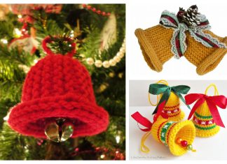 Christmas Bell Ornament Free Knitting Patterns