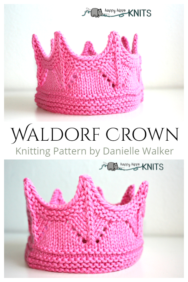 Knit Waldorf Crown Set Knitting Patterns