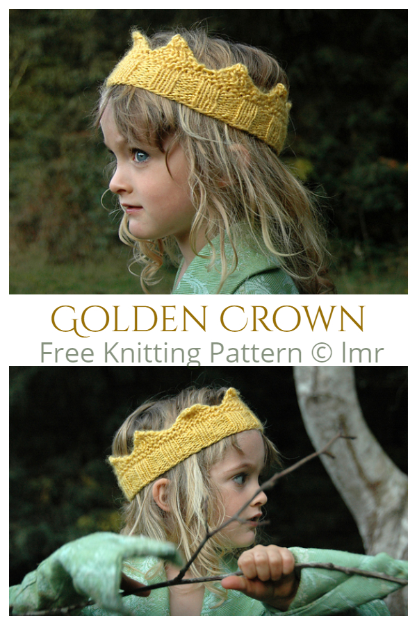 Knit Golden Crown Free Knitting Patterns