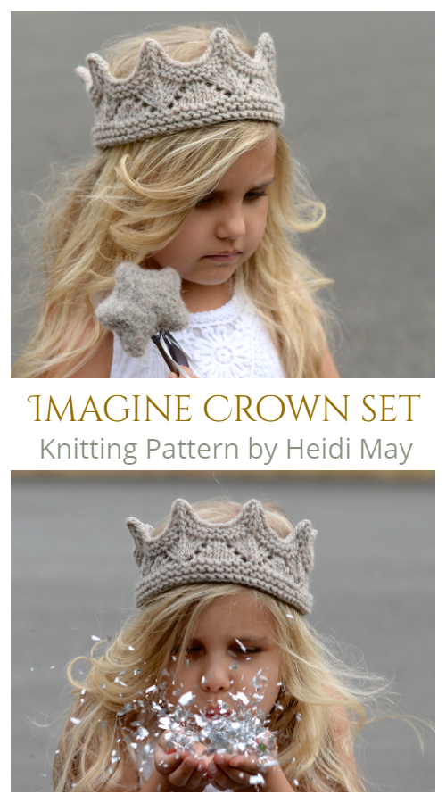 Knit Imagine Crown Set Knitting Patterns