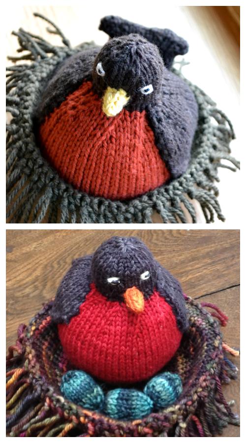Amigurumi Fat Robin Bird Free Knitting Patterns
