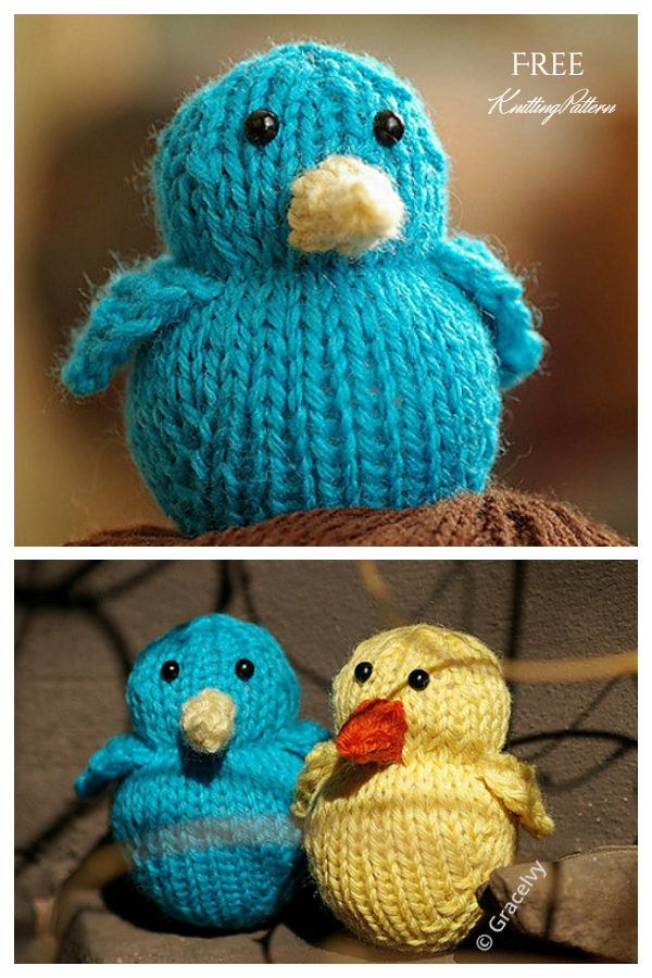 Amigurumi Bluebird Free Knitting Patterns