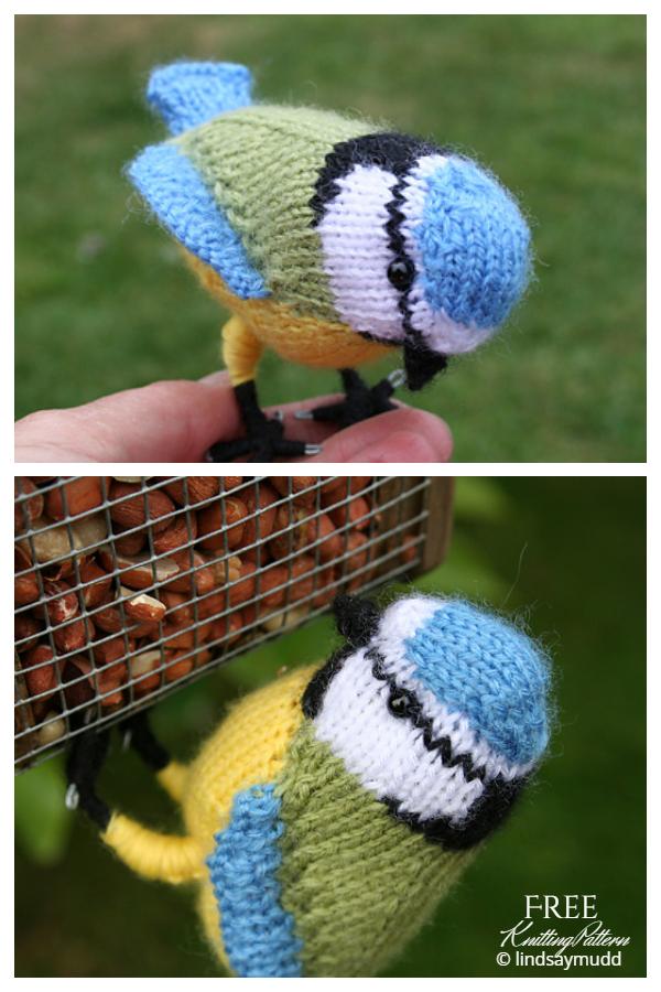Amigurumi Blue Tit Bird Free Knitting Patterns