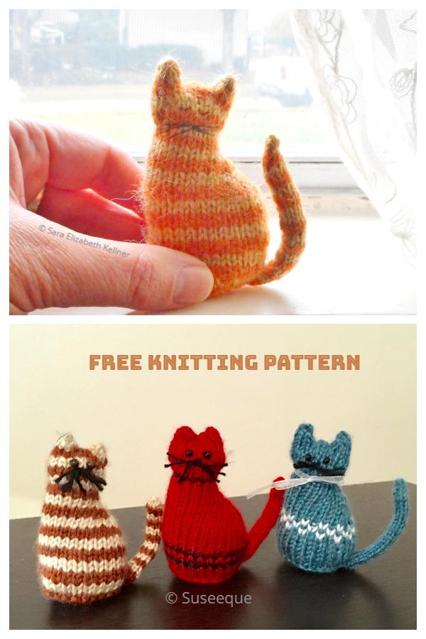Amigurumi Tiny Window Cat Free Knitting Patterns