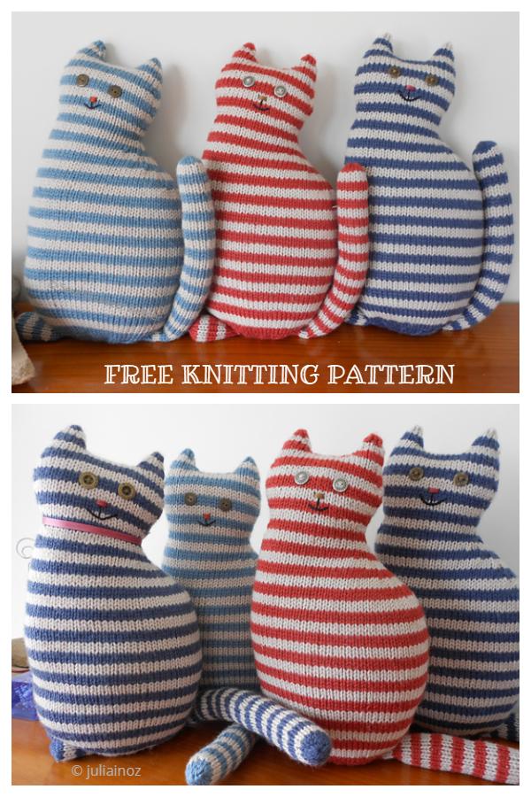 Amigurumi Window Cat Free Knitting Patterns