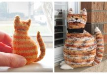 Amigurumi Window Cat Free Knitting Patterns