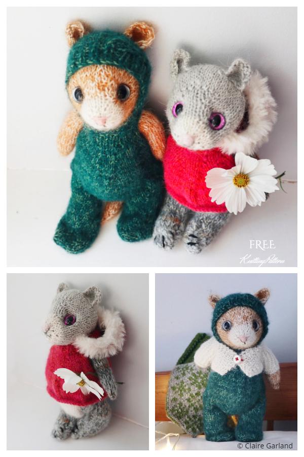 Beginner's Kitten Free Knitting Pattern