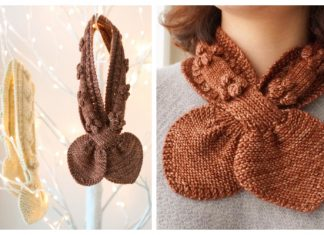 Bow Tie Scarf Free Knitting Patterns
