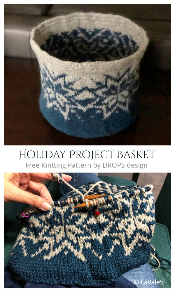 Christmas Basket Free Knitting Patterns