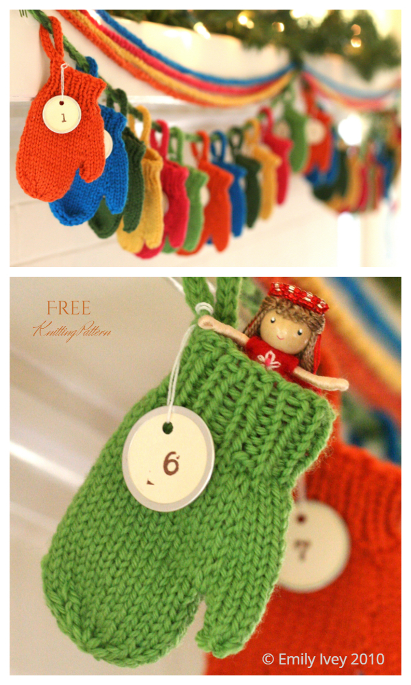 Christmas Smitten Holiday Garland Free Knitting Patterns