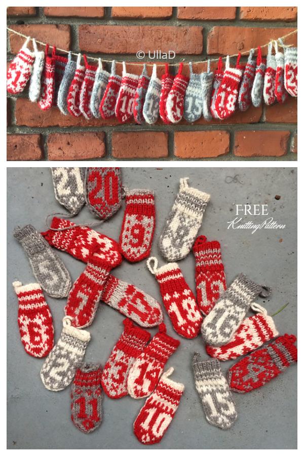 Christmas Advents Calendar Free Knitting Patterns