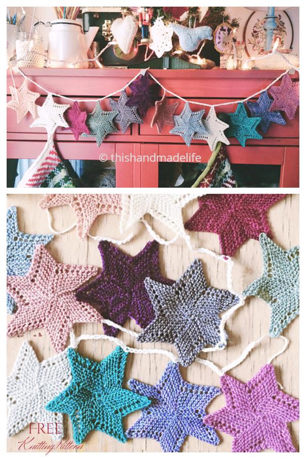 Christmas Luxury Holiday Garland Free Knitting Patterns