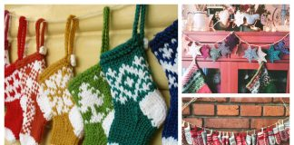 Christmas Garland Free Knitting Patterns