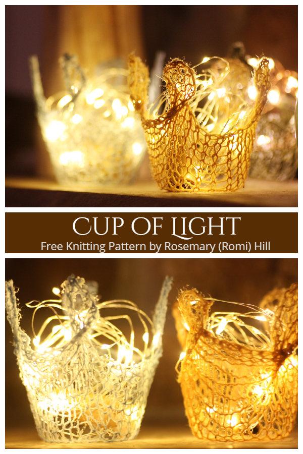 Cup of Light Free Knitting Pattern