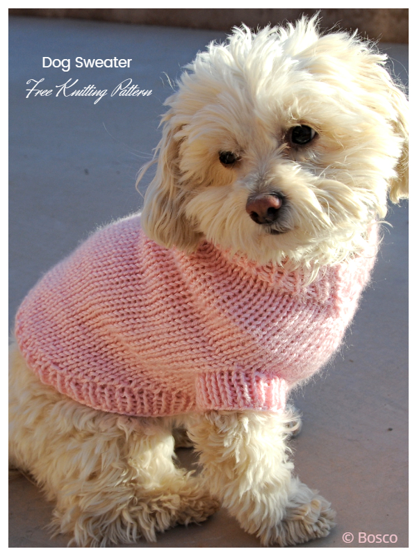 Knit Ribbed Dog Sweater Free Knitting Patterns