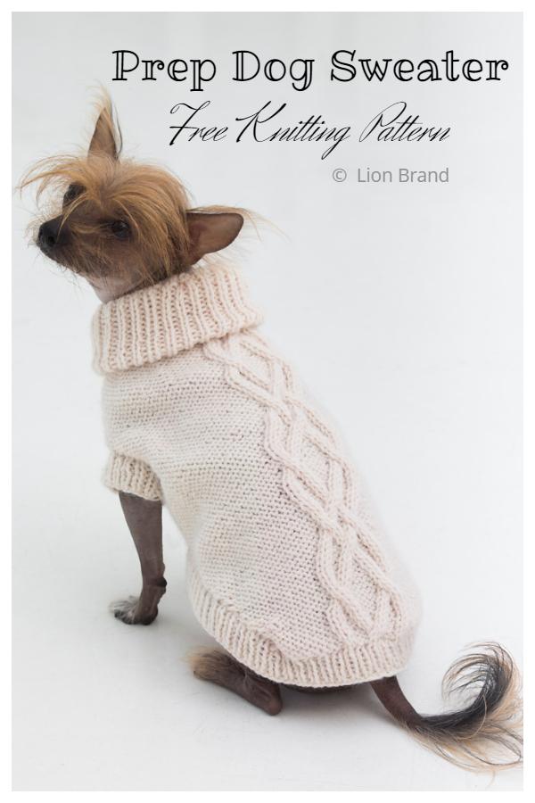 Knit The Prep Dog Sweater Free Knitting Patterns
