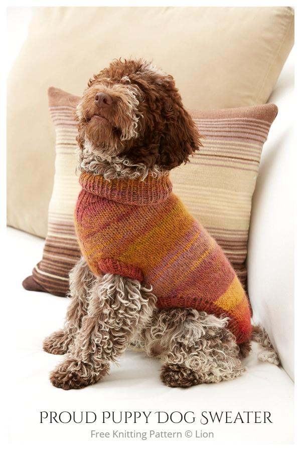 Knit Proud Puppy Dog Sweater Free Knitting Patterns