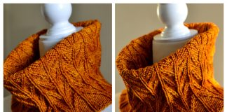 Fields of Wheat Cowl Free Knitting Pattern