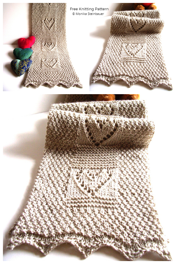 Have a Heart Valentine Heart Scarf Free Knitting Patterns
