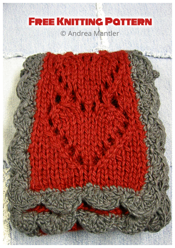 Valentine Heart Scarf Free Knitting Patterns