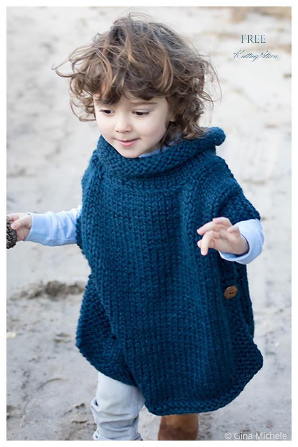 Kids Poncho Free Knitting Patterns