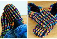 Knit Uberib Slippers Free Knitting Pattern