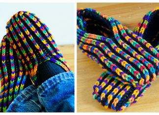 Knit Uberib Slippers Free Knitting Pattern
